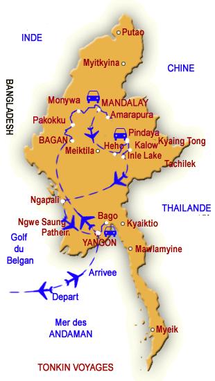 Carte Birmanie Plage.Circuit Mystique Birmanie Voyages En Birmanie Myanmar