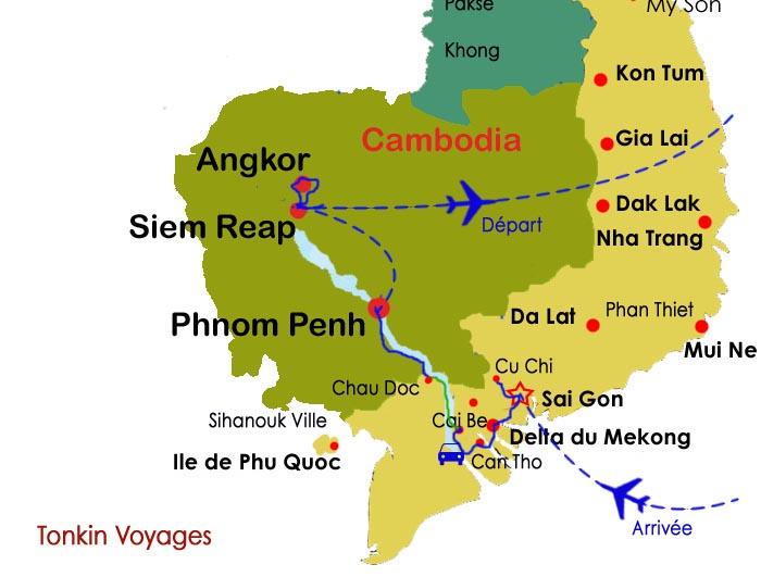 sud du vietnam et cambodge 11 jours circuits combin s vietnam cambodge. Black Bedroom Furniture Sets. Home Design Ideas